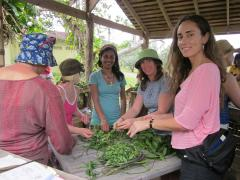 Collecting herbs Jamaica - prep