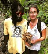 Grant and Hilary with turmeric
